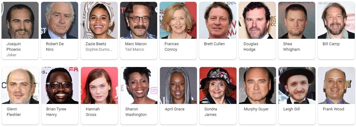 Joker 2019 Movie cast