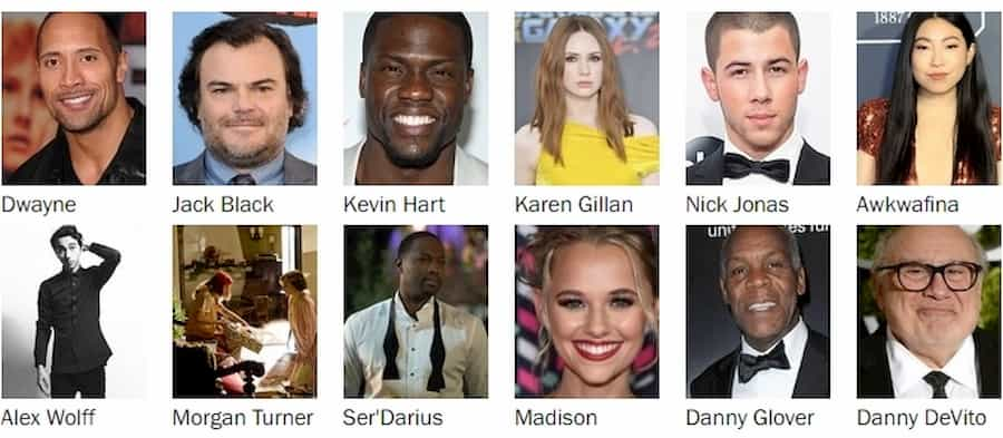 Jumanji The Next Level Cast