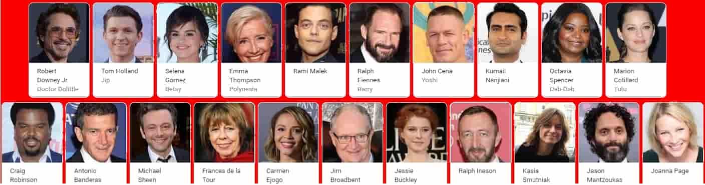 Dolittle Movie Cast
